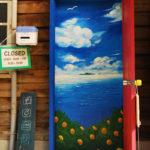 伯方島の「どこでもドア」は現在メンテナンス中でサイクルオアシスで休憩中