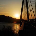 夕陽の絶景 しまなみ海道サイクリングで夕陽の絶景スポットはココだ!